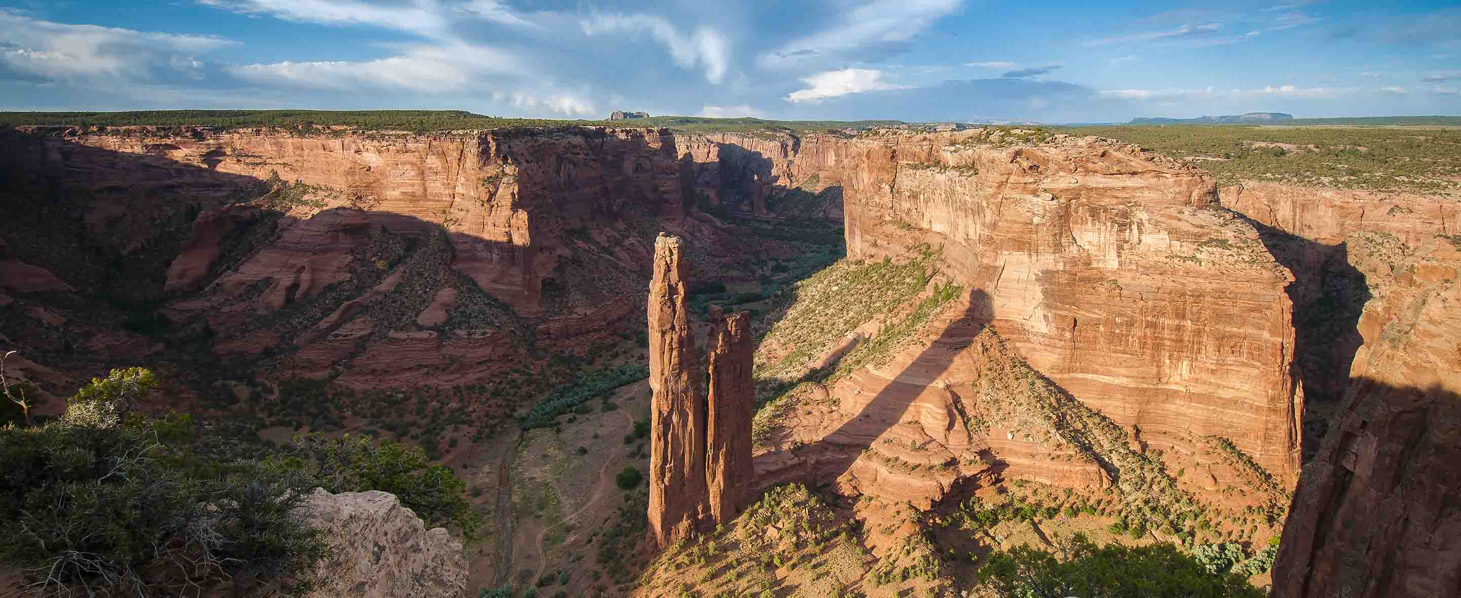 View of Spider Rock in Canyon de Chelly,Arizona