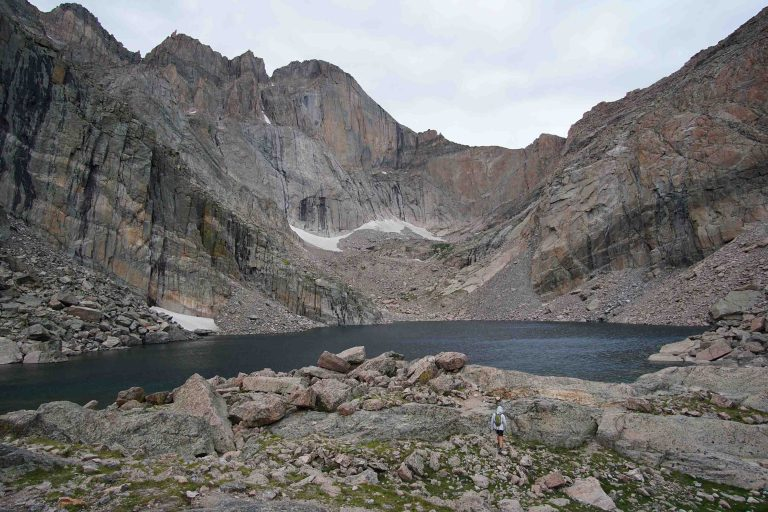 Chasm Lake in Rocky Mountain National Park Colorado