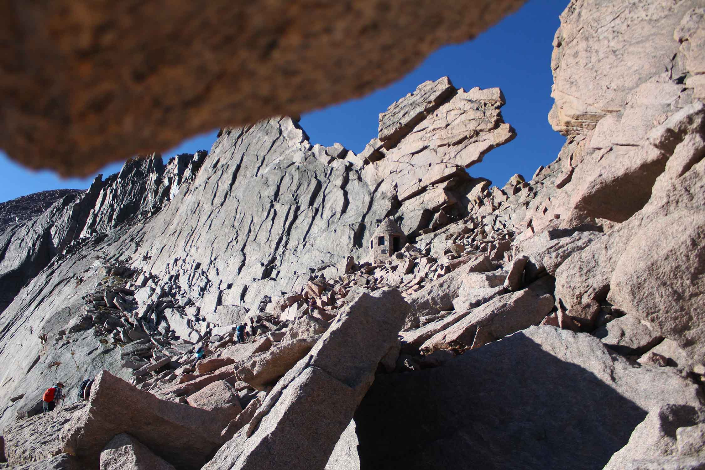 View of the Keyhole on the Longs Peak Hike.