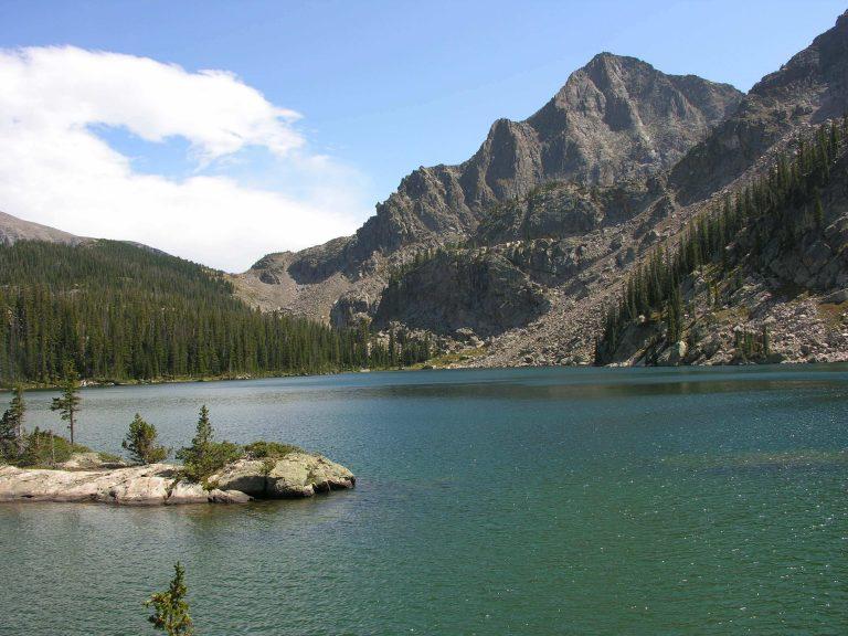 spirit lake in rocky mountain national park colorado