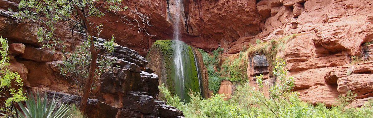 Ribbon Falls North Kaibab Trial Grand Canyon