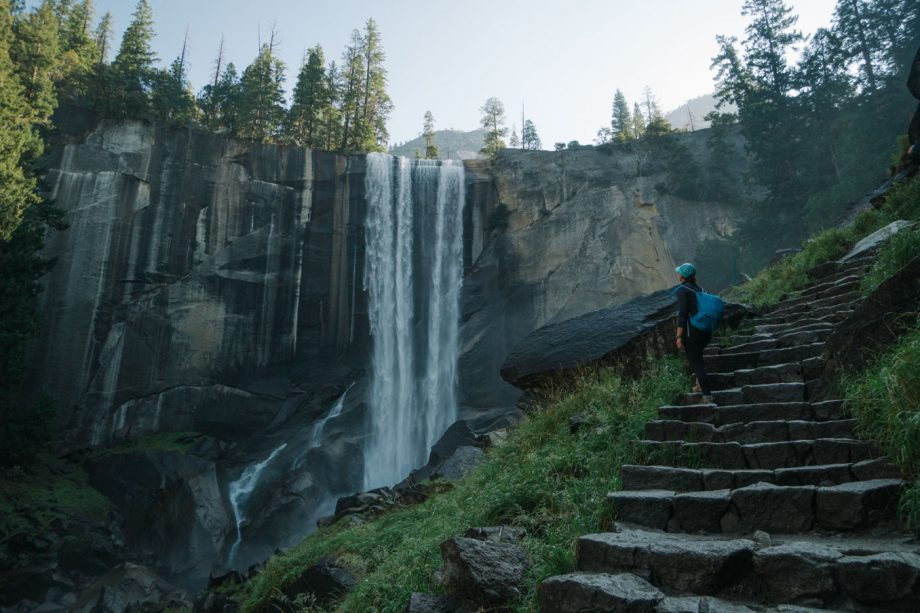 vernal falls day hike in yosemite with REI