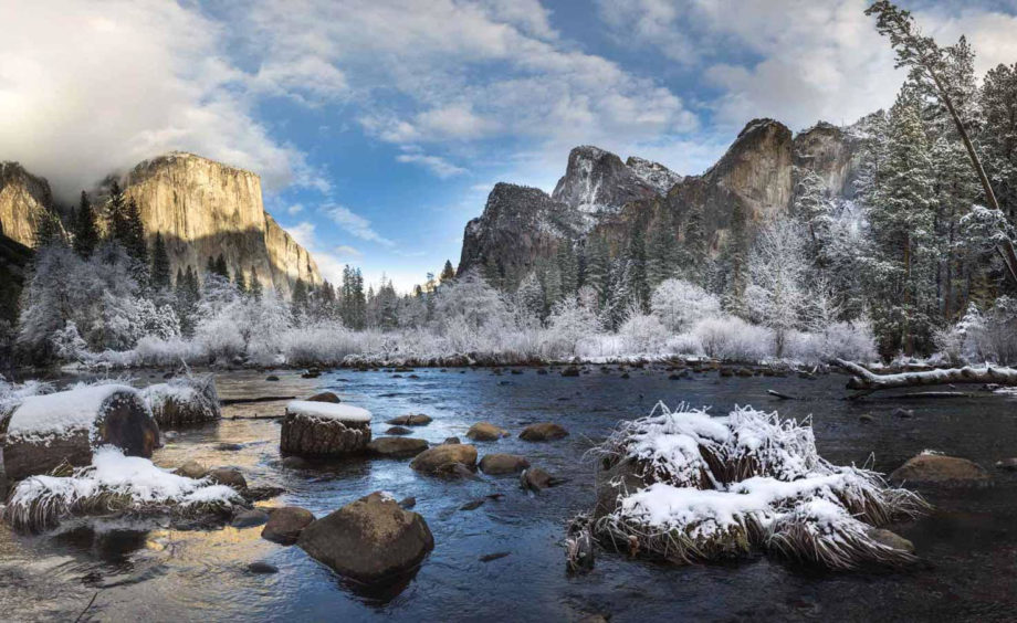 Yosemite with snow