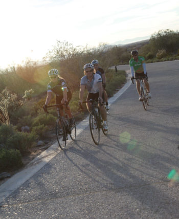 cyclists road biking in Scottsdale Arizona