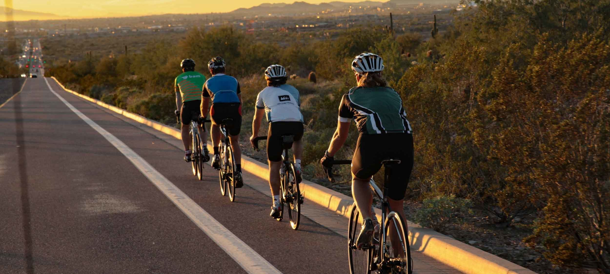 Four Road cyclers
