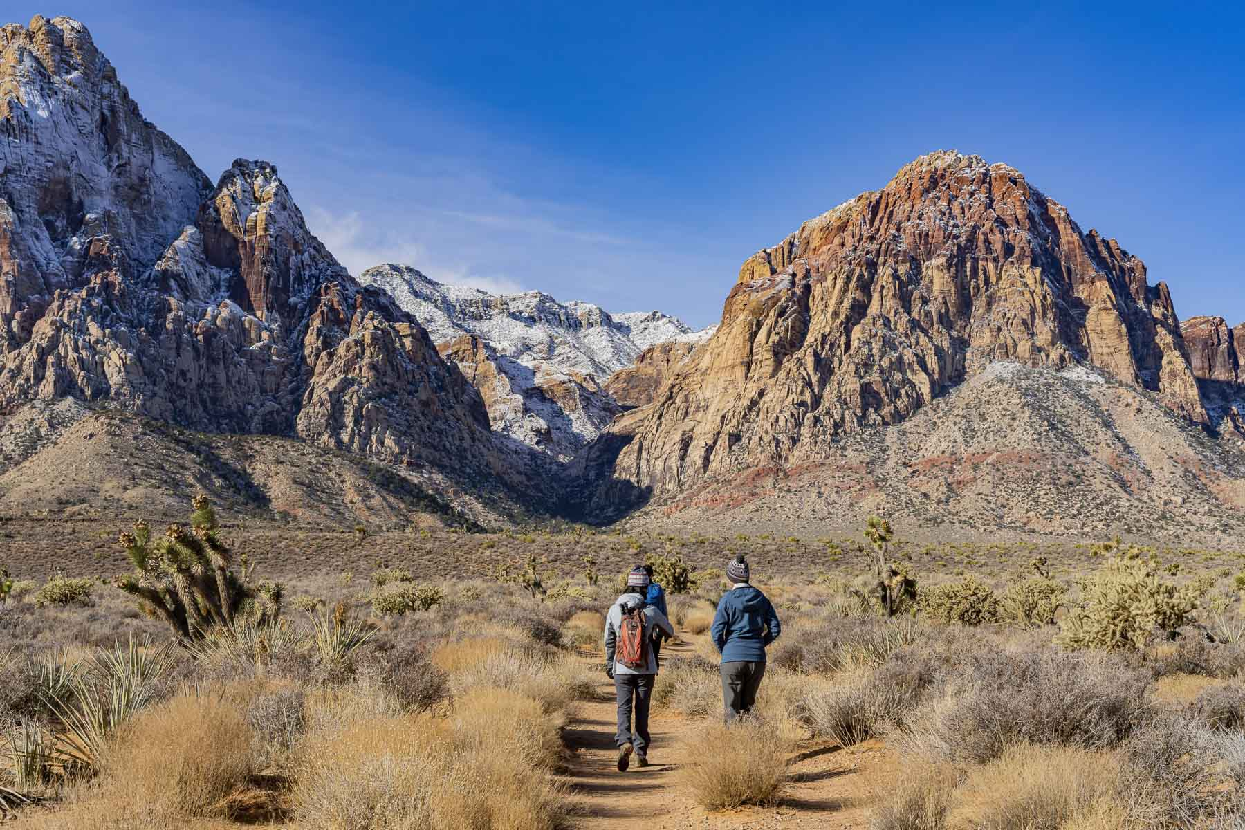 Hikers in Red Rock Canyon, Nevada