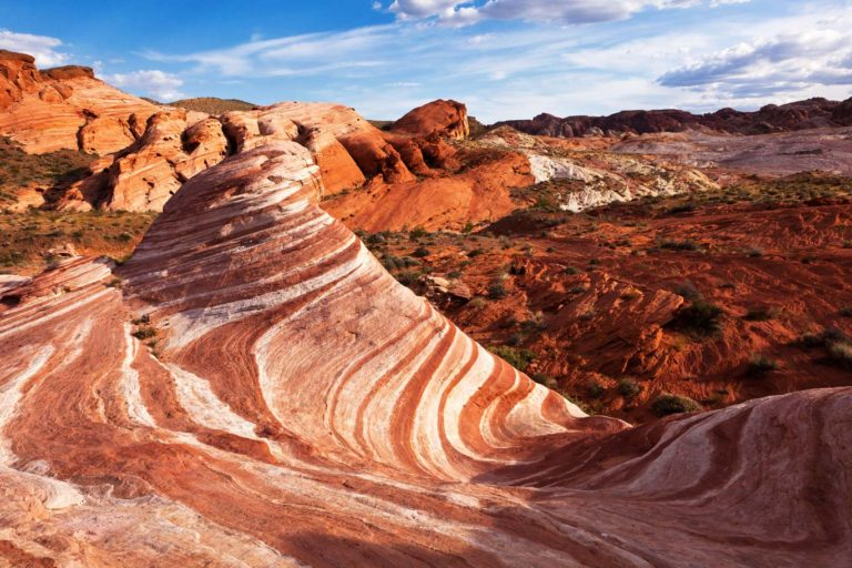 Colorful Red Sandstone Rock Formation Valley of Fire